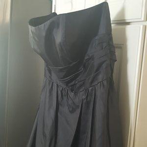 David's Bridal Strapless Formal Dress